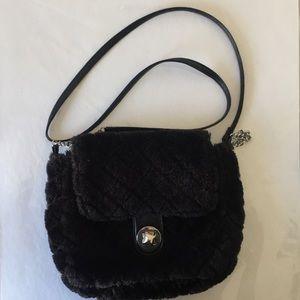 Claire Black Faux Fur Side Pocket Bag